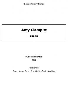 Amy Clampitt - poems - - PoemHunter.Com