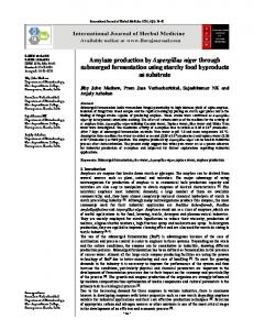 Amylase production by Aspergillus niger through submerged ...