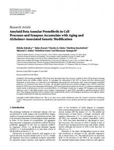 Amyloid Beta Annular Protofibrils in Cell Processes and Synapses ...