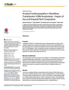 Amyloid Cardiomyopathy in Hereditary Transthyretin ... - DiVA portal