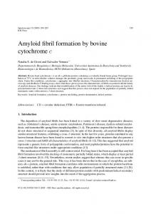 Amyloid fibril formation by bovine cytochrome c - Downloads.​hindawi