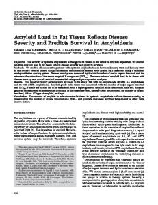 Amyloid load in fat tissue reflects disease ... - Wiley Online Library