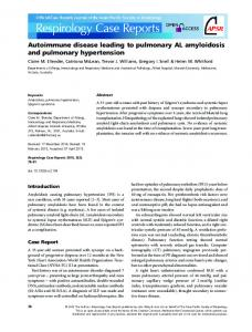 amyloidosis and pulmonary hypertension - Wiley Online Library