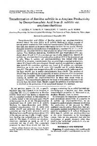 amylosacchariticus - Journal of Bacteriology