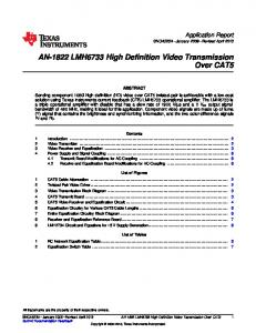 AN-1822 LMH6733 High Definition Video Transmission Over CAT5 ...