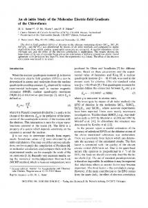 An ab initio Study of the Molecular Electric-field