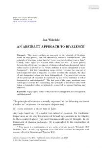an abstract approach to bivalence