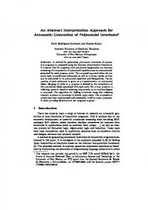 An Abstract Interpretation Approach for Automatic Generation of ...
