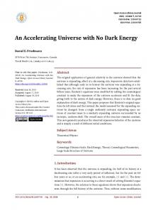 An Accelerating Universe with No Dark Energy