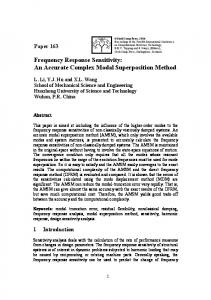An Accurate Complex Modal Superposition Method