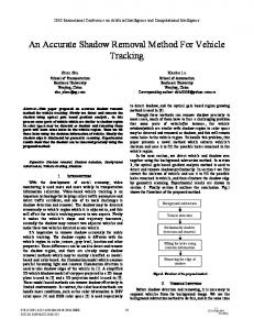 An Accurate Shadow Removal Method for Vehicle ... - IEEE Xplore