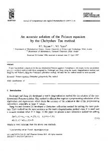 An accurate solution of the Poisson equation by the