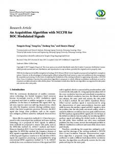 An Acquisition Algorithm with NCCFR for BOC Modulated Signals