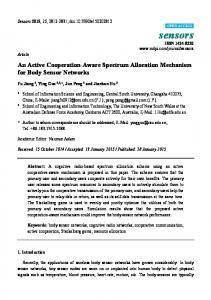 An Active Cooperation-Aware Spectrum Allocation Mechanism ... - MDPI