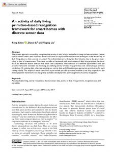 An activity of daily living primitive–based recognition ... - SAGE Journals
