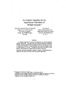 An Adaptive Algorithm for the Approximate Calculation of ... - CiteSeerX