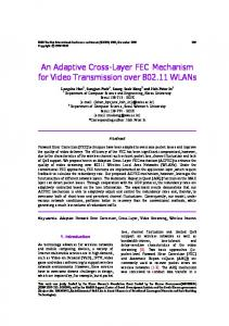 An Adaptive Cross-Layer FEC Mechanism for ... - Semantic Scholar