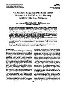 An Adaptive Large Neighborhood Search Heuristic for the Pickup and