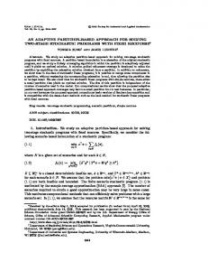 AN ADAPTIVE PARTITION-BASED APPROACH FOR SOLVING TWO ...