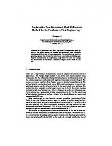 An Adaptive Two-dimensional Mesh Refinement