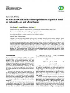 An Advanced Chemical Reaction Optimization Algorithm Based on