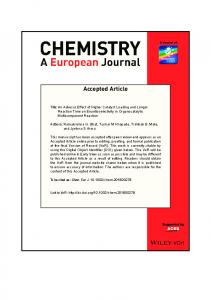 An Adverse Effect of Higher Catalyst Loading ... - Wiley Online Library