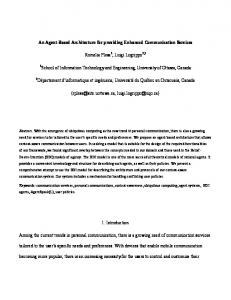 An Agent-Based Architecture for providing Enhanced Communication ...