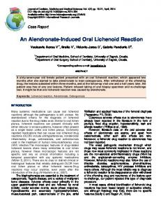 An Alendronate-Induced Oral Lichenoid Reaction - International ...
