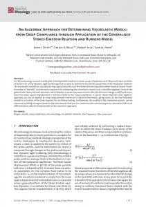 An Algebraic Approach for Determining Viscoelastic ...