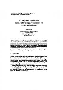 An Algebraic Approach to Functional-Dependency Semantics for First