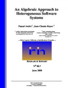 An Algebraic Approach to Heterogeneous