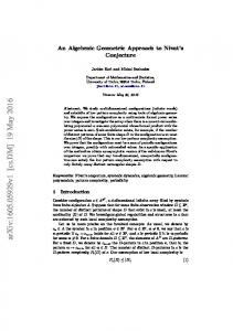 An Algebraic Geometric Approach to Nivat's Conjecture
