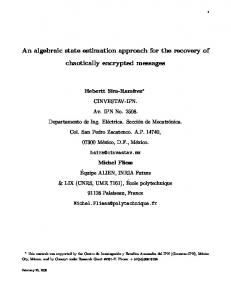 An algebraic state estimation approach for the
