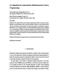 An Algorithm for Approximate Multiparametric Convex Programming