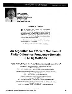 An Algorithm for Efficient Solution of Finite ... - Semantic Scholar