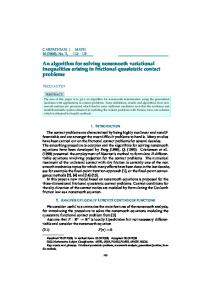 An algorithm for solving nonsmooth variational inequalities arising in ...
