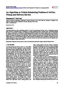 An Algorithm to Vehicle Scheduling Problem of AirPort Pickup and ...