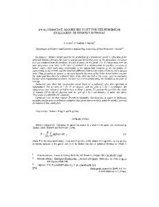 An Alternative Algorithm to FFT for the Numerical ... - Springer Link