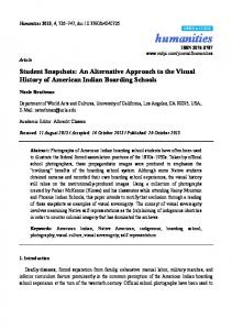 An Alternative Approach to the Visual History of ... - Semantic Scholar
