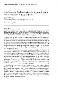 An Alternative Explanation for the Apparently Active Water Exudation ...