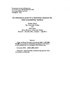 An alternative proof of a Tauberian theorem for