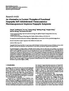 An Alternative to Current Therapies of Functional Dyspepsia: Self