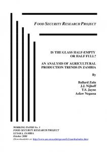 An Analysis of Agricultural Production Trends in ... - AgEcon Search