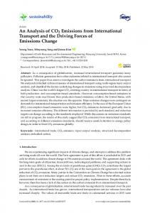 An Analysis of CO2 Emissions from International Transport and ... - MDPI