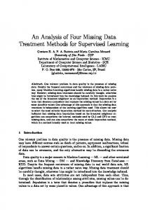 An Analysis of Four Missing Data Treatment Methods for ... - ICMC - USP