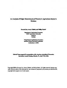 An Analysis of Major Determinants of Poverty in ... - AgEcon Search