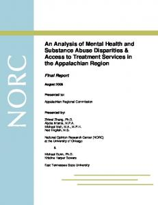 An Analysis of Mental Health and Substance Abuse Disparities ...