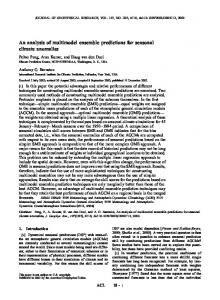 An analysis of multimodel ensemble predictions ... - Wiley Online Library