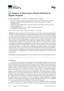 An Analysis of Ship-Source Marine Pollution in ...