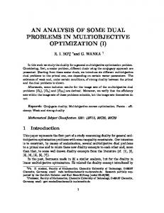 an analysis of some dual problems in multiobjective optimization